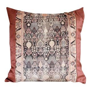 Blush Pink Velvet & Linen Pillow Cover For Sale