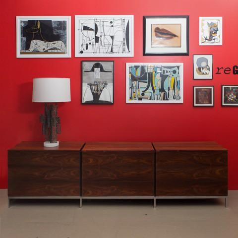 Florence Knoll Rosewood Triple Chest of Drawers - Image 1 of 2