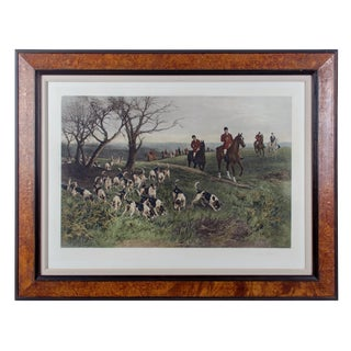 """""""Lost Scent"""" Hunt Scene Intaglio Print After Heywood Hardy For Sale"""