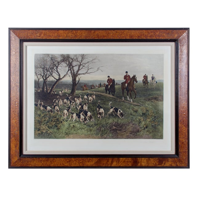 """Lost Scent"" Hunt Scene Intaglio Print After Heywood Hardy For Sale"