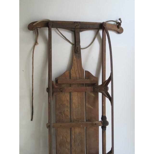 Vintage Wood and Metal Winter Sled - Image 5 of 6