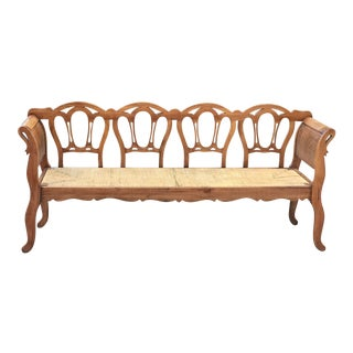 Mid 19th Century Antique French Banquette For Sale