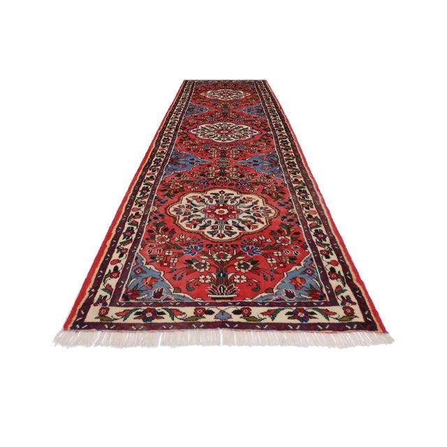 Persian Rudbar Floral Runner - 3' x 9'5 For Sale - Image 4 of 5