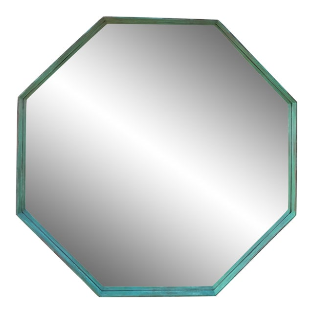 Architectural Bronze Hexagon Mirror - Image 1 of 10