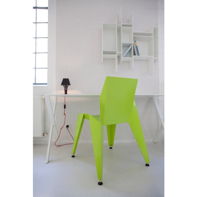 Origami Inspired Edge Green Chair | Indoor & Outdoor Chair For Sale In San Francisco - Image 6 of 9