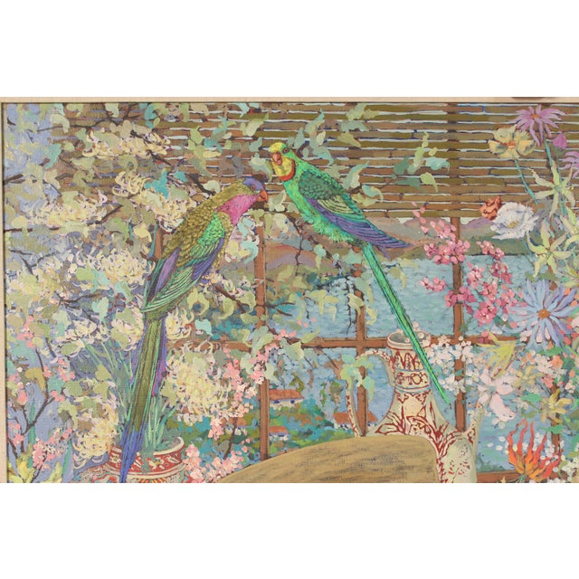 1980s Chinoiserie Still Life by John Powell For Sale - Image 5 of 13