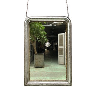Silver Leaf Gilded 19th Century Mirror For Sale