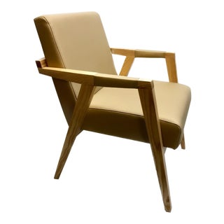 Solid Wood Designer Chair Prototype For Sale