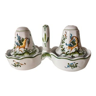 Quimper Salt & Pepper Shakers-Moustiers For Sale