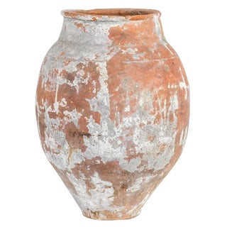 Large 19th Century Terra Cotta Pot With Tapered Base From France For Sale