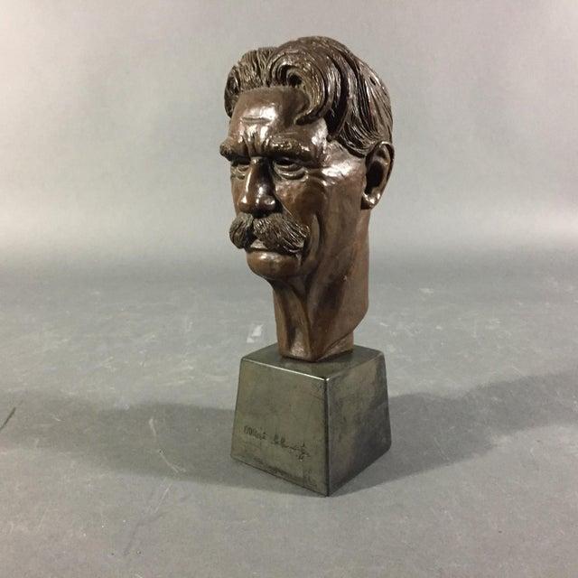 Bronze Sculpture of Nobel Winner Albert Schweitzer, 1955 For Sale - Image 10 of 10