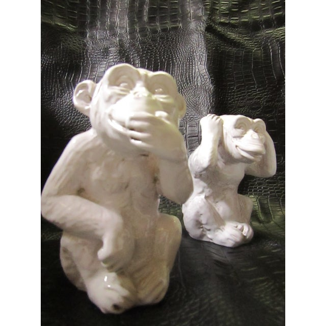 """Hear No, Speak No, See No Evil"" Monkey Statues - Set of 3 - Image 5 of 8"
