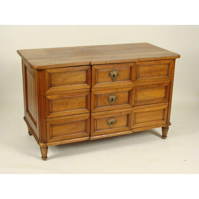 Louis XVI Continental Neoclassical Walnut Commode, 1820s - Image 2 of 9
