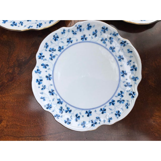 Traditional Godinger and Company Dessert Plates in the Blue Belle Pattern - Set of 4 For Sale - Image 3 of 8