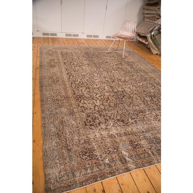 "Distressed Vintage Oushak Carpet - 8'8"" x 11'8"" - Image 4 of 7"