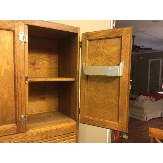 Oak Sellers Kitchen Hutch For Sale - Image 5 of 6