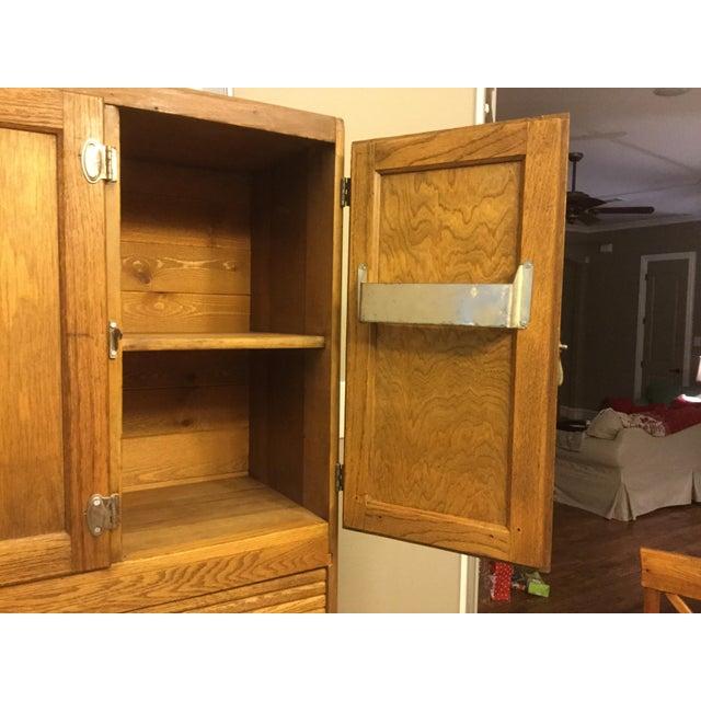 Oak Sellers Kitchen Hutch - Image 5 of 6