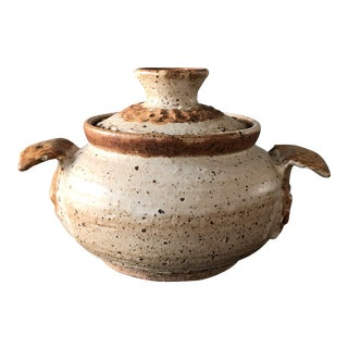 Southwestern Clay Pot with Lid For Sale