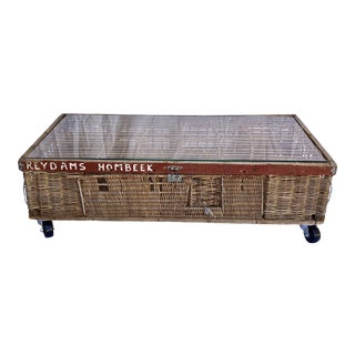 Vintage Belgian Pigeon Cage Coffee Table For Sale
