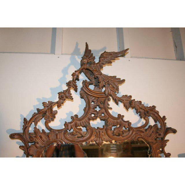 Chippendale Italian Chippendale Style Carved Mirror For Sale - Image 3 of 4