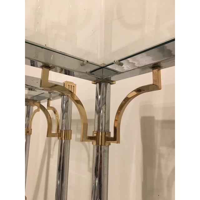 Pair of Brass and Chrome Etageres For Sale - Image 10 of 11