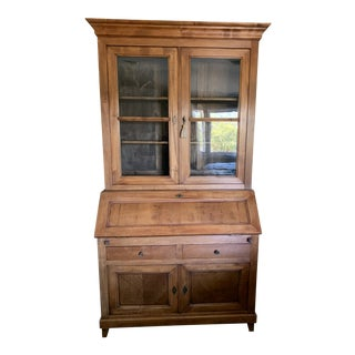 Louis Philippe Style Glazed Cherrywood Secretary From France For Sale