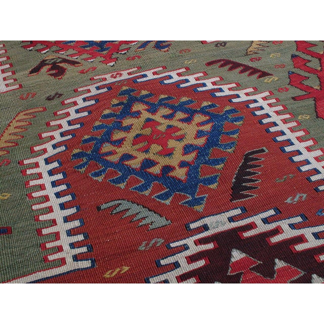 Early 20th Century Kilim with Ascending Arches For Sale - Image 5 of 10