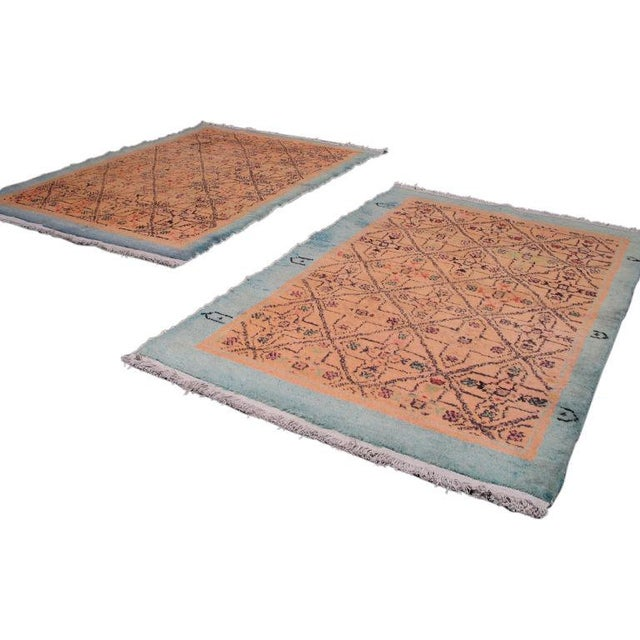 Pair of Oushak Rugs For Sale - Image 5 of 5