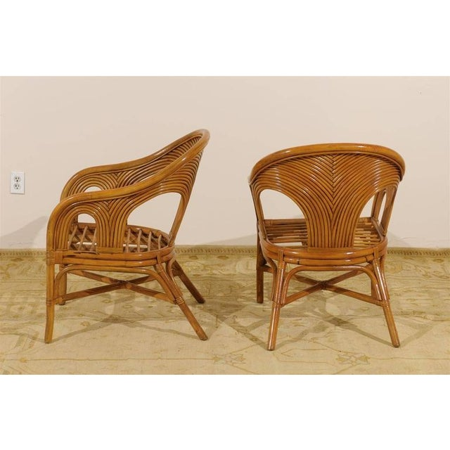 Sculptural Set of Six Vintage Bamboo Dining Chairs For Sale - Image 4 of 11