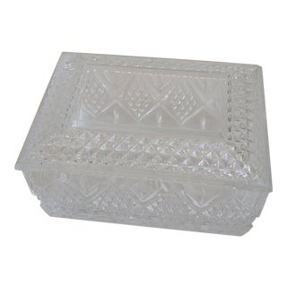 Pressed Glass Box For Sale