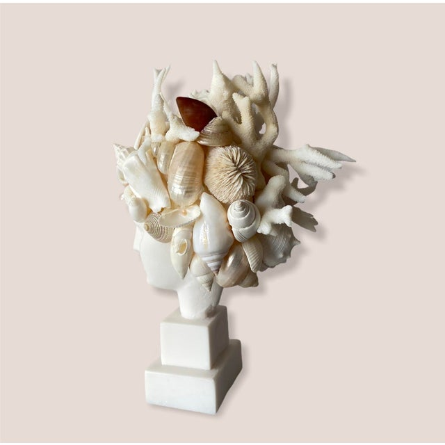 Contemporary Contemporary Mini Shell-Encrusted Hygiea Head For Sale - Image 3 of 5