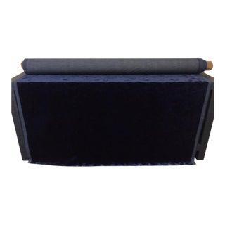 Contemporary Italian Kravet Couture Velvet Fabric in Royal Blue - 6 Yards