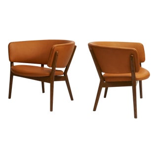Nanna Ditzel Model #ND83 Lounge Chairs - a Pair For Sale