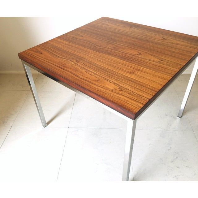 FLorence Knoll Floating Top Rosewood Table For Sale In Milwaukee - Image 6 of 6