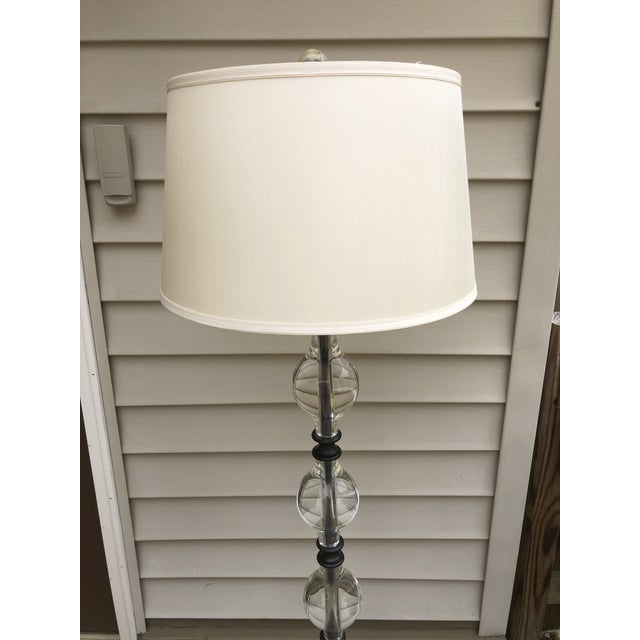 Pottery Barn Marston Lamp: Pottery Barn Crystal Marston Floor Lamp With Shade