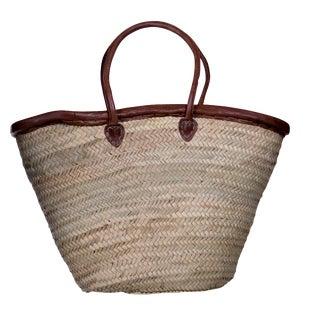 Leathered Trimmed Market Basket