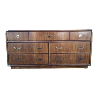 Mid 20th Century Vintage Campaign Dresser by Drexel For Sale