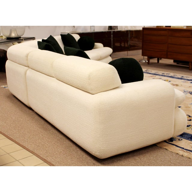 Contemporary Contemporary Modern Kagan Style Preview 3 Pc Curved Sectional Sofa 1980s For Sale - Image 3 of 11