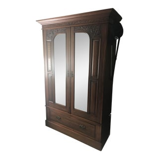 Edwardian Wood Armoire