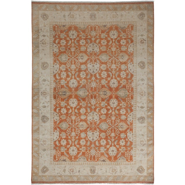 New Oushak Hand-Knotted Rug - 6′1″ × 9′ - Image 1 of 3