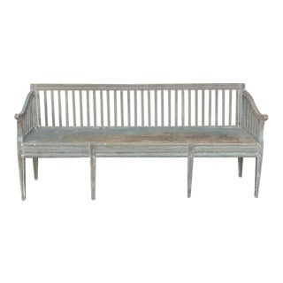 19th Century Swedish Gustavian Hall Bench For Sale