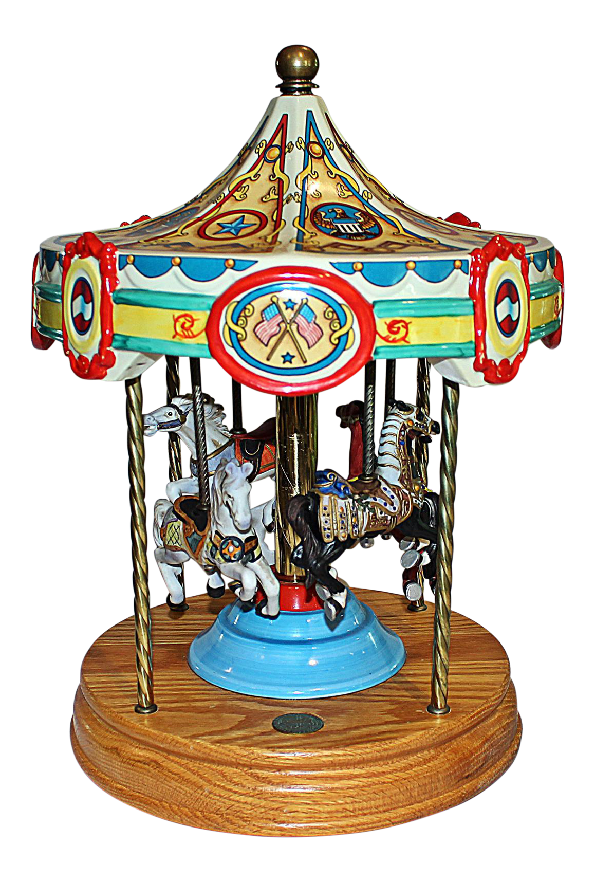 Etonnant Tabletop Carousel By Fraley For Sale