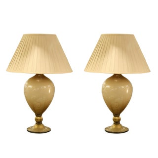 Veronese Murano Table Lamps - A Pair For Sale