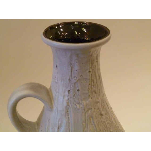 Large 50s Clemens & Huhn Textured German Pottery Mid Century Modern Krug Floor Vase - Image 7 of 9