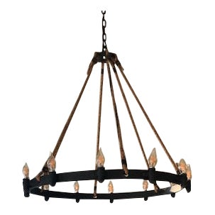 Chandelier, Transitional and Rustic For Sale
