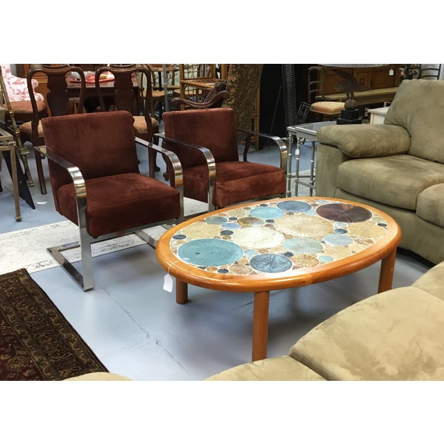 Tue Poulsen Danish Modern Teak & Ceramic Coffee Table For Sale - Image 4 of 7