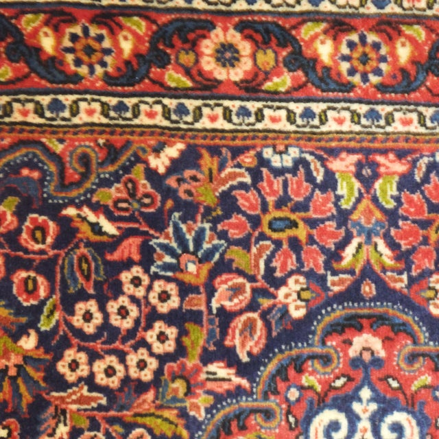 "Persian Sarouk Rug - 3'2"" x 2'3"" For Sale - Image 5 of 6"