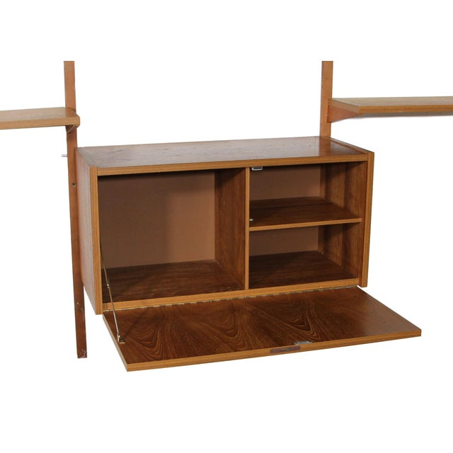 Brown Mid Century Danish 7 Bay Teak Shelving Unit by Ps System For Sale - Image 8 of 13