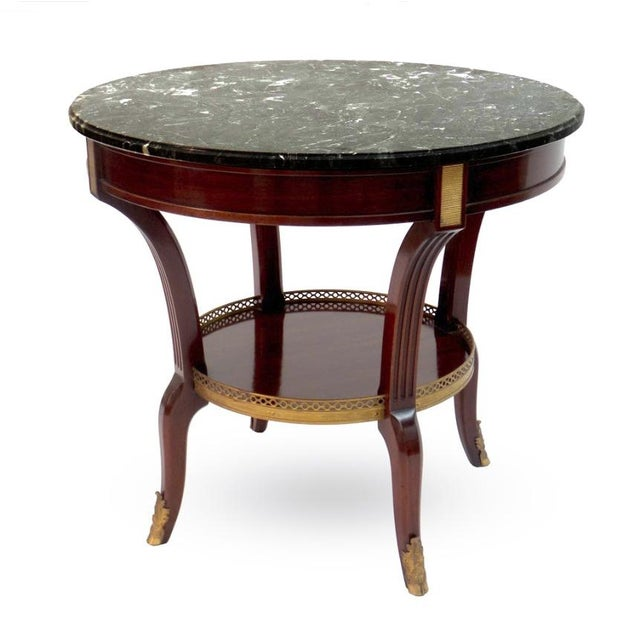 Brass Louis XVI Style Bouillotte Table For Sale - Image 7 of 7