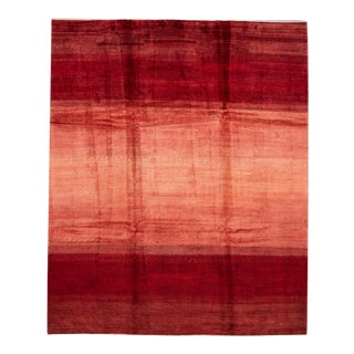 Red Modern Persian Gabbeh Handmade Wool Rug For Sale